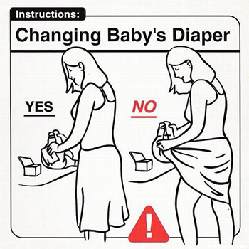 Changing Baby's Diaper