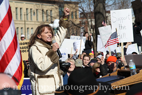 Vicki McKenna at Tea Party Rally
